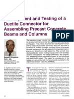 Development and Testing of a Ductile Connector for Assembling Precast Concrete Beams and Columns - Robert E Englekirk, 1995