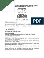 Programa de seguridad y salud en el trabajo en la empresa internacional de fluidos