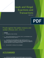Frauds and Illegal Exactions and Transactions