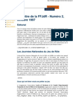 La Lettre de la FFJdR n.2 - octobre 1997