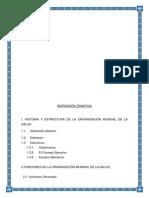 1 Historia y Estructura de La Organización Munduial de La Salud