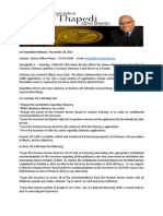 HR 1348 Press Release state Rep Andre Thapedi