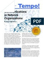 Tempo! Communications in Network Organizations