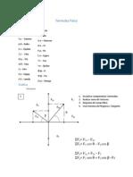 Formulas de Física Bachillerato