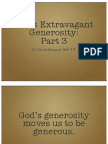God's Extravagant Generosity, Part 3
