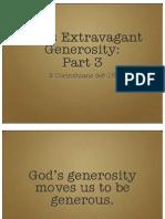 God's Extravagant Generosity, Part 3