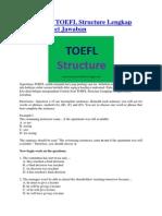 Contoh Soal TOEFL Structure Lengkap Dengan Kunci Jawaban