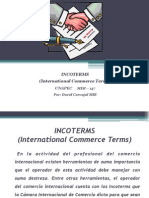 INCOTERMS International Commerce Terms Por David Carvajal MCI-3