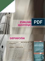 Evaluacion Institucional