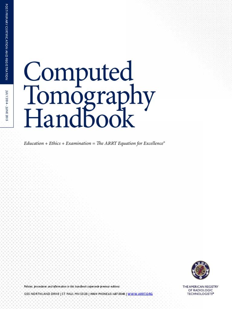 Ct Handbook Radiology Medical Imaging