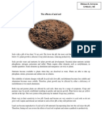 The Effects of Acid Soil