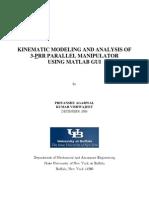 3PRR Planar Parallel Manipulator Analysis