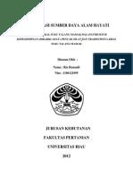 Konservasi Sumber Daya Alam - Kearifan Suku Talang Mamak-libre