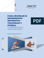 Mejorar El Rendimiento Deportivo Velocidad y Fuerza