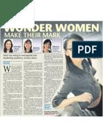 Wonder women make their mark, 8 Mar 2009, Sunday Times