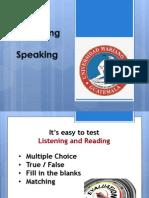 evaluating speaking