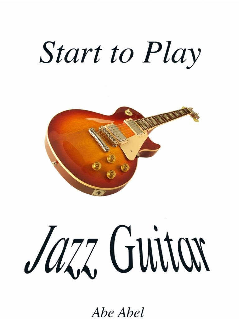 Start To Play Jazz Guitar Basic Skills Chord Music Guitars