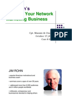Jim Rohn's Building Your Network Marketing Business