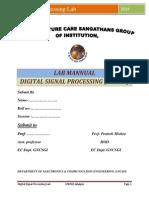 Digital Signal Processing Lab manual using matlab
