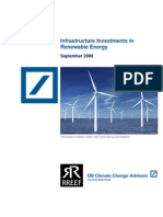 Infrastructure Investments in Renewable Energy