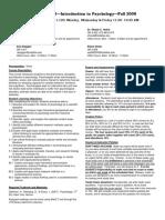 UT Dallas Syllabus for psy2301.002.08f taught by Shayla Holub (sch052000)