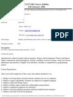 UT Dallas Syllabus for cs1337.002.08f taught by John Cole (jxc064000)