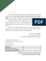 Örnek Toplam Kalite Yönetimi Anketi