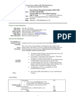 UT Dallas Syllabus for ims5200.mbc.08f taught by Mike Peng (mxp059000)