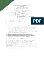 UT Dallas Syllabus for biol4380.002.08f taught by Irina Borovkov (ixb053000)