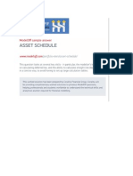 Asset Schedule Corality ModelOff Worked Solution Asset Schedule