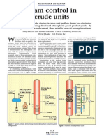 Foam control in crude units