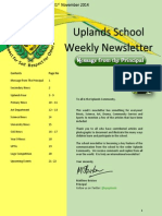 Uplands School Weekly Newsletter - Term 1 Issue 14 - 21 November 2014