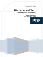 Discourse and Text