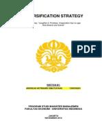 Andreas H Simatupang 130635609 Diversification Strategy WaltDisney