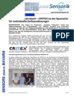 Strategische Partnerschaft zwischen CRITEX und Sensorik Bayern Netzwerk