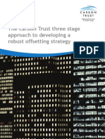 The Carbon Trust three stage approach to developing a robust offsetting strategy