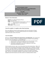 UT Dallas Syllabus for nats4310.002.08f taught by   (jmw087000)