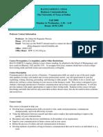UT Dallas Syllabus for ba3311.005.08f taught by   (jmw087000)