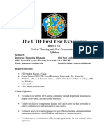 UT Dallas Syllabus for rhet1101.005.08f taught by Thomasina Hickmann (hickmann)