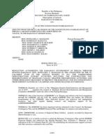 Resolution of Adoption Contingency Plan