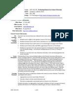 UT Dallas Syllabus for sce5305.0t1.08f taught by Cynthia Ledbetter (ledbeter)