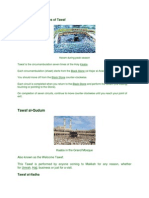 Notes on Different Types of Tawaf