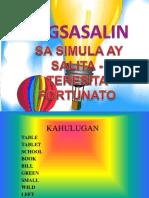 Pagsasalin