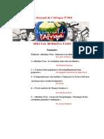Journal de l'Afrique n°4 Spécial Burkina Faso