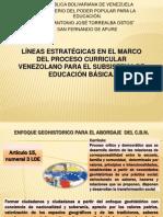 Lineas Orientadoras del Curriculo Basico Nacional Bolivariano