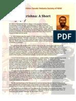About Sri Ramakrishna
