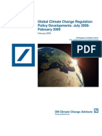 Global Climate Change Regulation Policy Developments