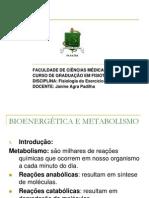 Apresentação Bioenergética e Metabolismo