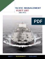 Tanker Pacefic Fleet List