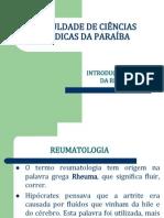 1ª Aula de Reumatologia